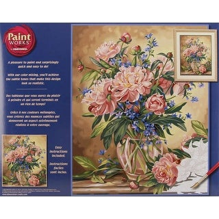 """Paint Works Paint By Number Kit 16""""X20""""-Peony Floral"""