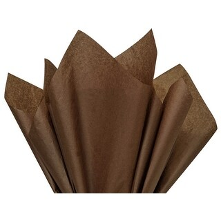 """(480 pack) Solid Espresso Tissue Paper 15 x 20"""" Sheet Half Ream Made from Post Industrial Recycled Fibers"""