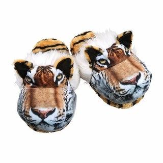 Women's Sublimated Print Fuzzy Animal Slippers - Tiger