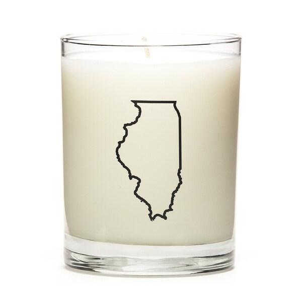 Custom Gift - Map Outline of Illinois U.S State, Lavender