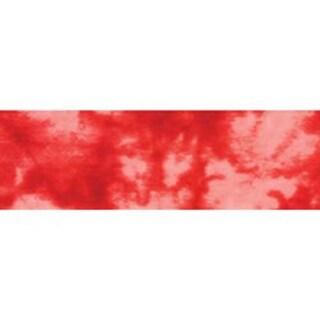 """Tie-Dye Red - Single Fold Satin Fancy Blanket Binding 2""""X4-3/4yd"""