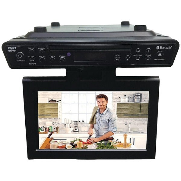 "Sylvania Skcr2706Bt 10.2"" Under-Counter Bluetooth(R) Kitchen Tv With Built-In Dvd Player & Hdmi(R)"