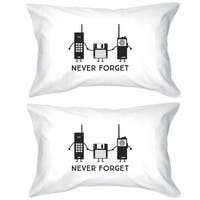 Never Forget White Gift Pillowcases Funny Grandparents Gift Ideas - pillowcase