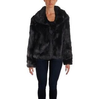 Sanctuary Womens Juniors Penelope Faux Fur Coat Fall Warm