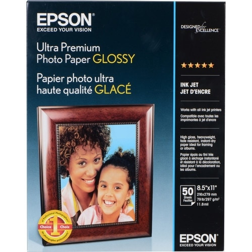 Epson Print - Glossy Photo Paper - 8.5 In X 11 In - 50 Sheet(S). For Epson 3640