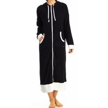 Shop DKNY NEW Black Women\'s Size Medium S/M Full-Zip Hooded Two-Tone ...