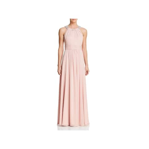 9ac5a234b9e Eliza J Womens Evening Dress Pleated Halter