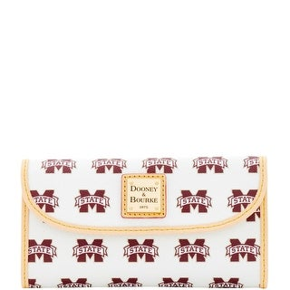 Dooney & Bourke NCAA Mississippi State Continental Clutch (Introduced by Dooney & Bourke at $128 in Jan 2016) - White