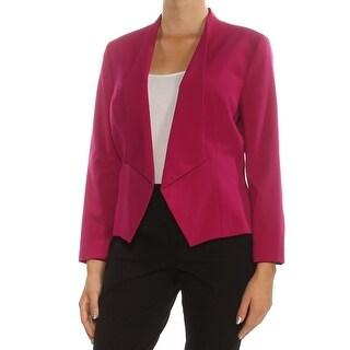 Womens Purple Wear To Work Blazer Jacket Size 10