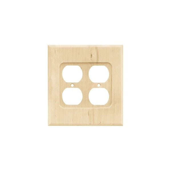 Shop Franklin Brass W10398 C Wood Square Double Duplex Outlet Wall