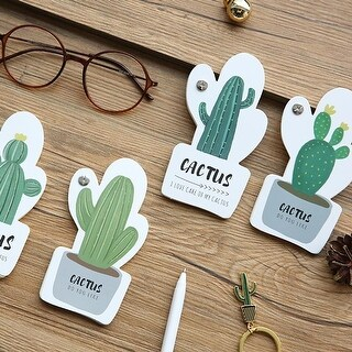 G Home Collection Small Cactus Memo Pad Randomly Picked Set of 8