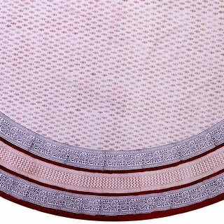 """Handmade Hand Block Print Bagru Floral Tablecoth Round 90 Inch 100% Cotton 72"""" x 72"""" Square"""