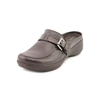 Easy Spirit Dorlisa Square Toe Leather Mules