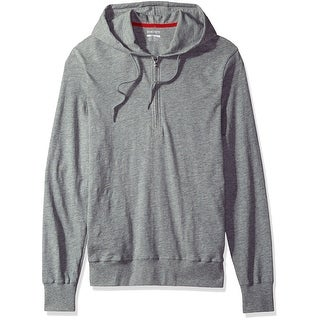 2(X)IST NEW Heather Gray Mens Size Large L 1/2 Zip Hooded Sweater