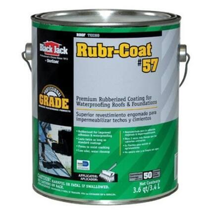 Black Jack 6080-9-34 Rubr-Coat No. 57 Premium Rubberized Coating, 3.6 quart