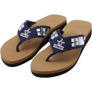 Dallas Cowboys Jewel Wedge Flip Flops