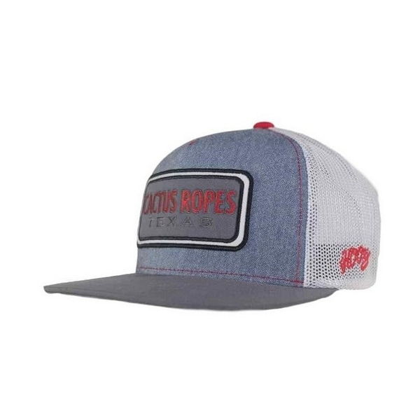 buy popular e161b 6ca6d ... real hooey hat boys cactus ropes youth trucker o s denim white cr024 y  aa9ff ec44e