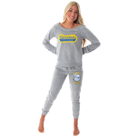 Riverdale Juniors' River Vixens Go Bulldogs TV Show 2 Piece Loungewear Jogger Pajama Set