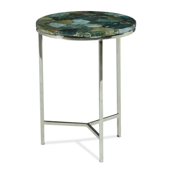 The Curated Nomad Fleures Agate Top Chairside Table. Opens flyout.