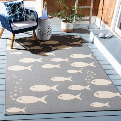 SAFAVIEH Courtyard Illa Indoor/ Outdoor Patio Backyard Rug