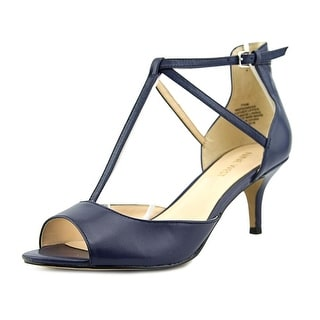 Nine West Gamgee Women Open-Toe Leather Blue Heels