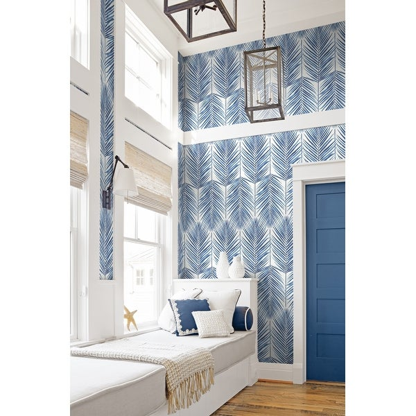 Seabrook Designs Beach House Paradise Palm Leaf Unpasted Wallpaper. Opens flyout.