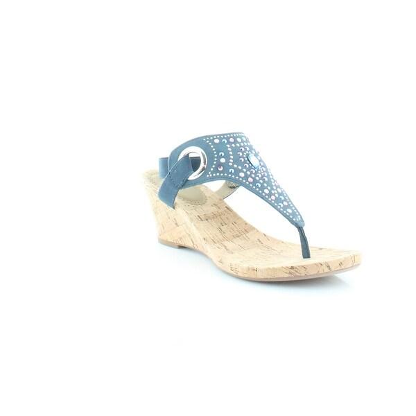White Mountain Adeline Women's Sandals & Flip Flops Blue / Multi - 9.5
