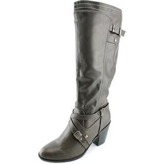 Rialto Madyson Women Round Toe Synthetic Gray Knee High Boot