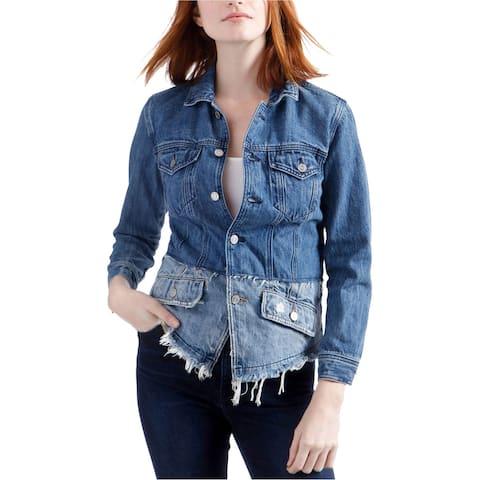 Lucky Brand Womens Waisted Trucker Jean Jacket