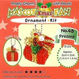 Create Your Own Miyuki Mascot Bead Charm Christmas Ornament Kit - Wrapped Gift
