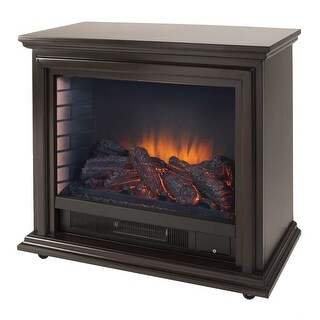 "Pleasant Hearth GLF-5002 5200 BTU 32"" Wide Free Standing Vent Free Electric Fireplace - N/A"