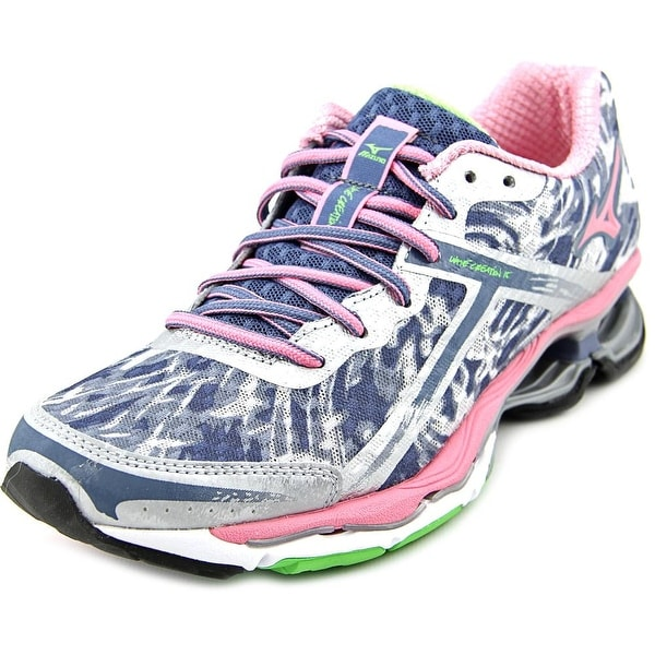 Mizuno Wave Creation 15 Women  Round Toe Canvas Gray Running Shoe