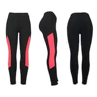 Women's Athletic Fitness Sports Yoga Pants Large/X-Large-Black/Pink