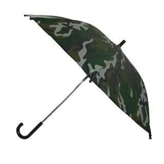CTM® Kids' 34 Inch Dome Camo Print Hook Handle Umbrella