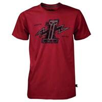 Harley-Davidson Mens Black Label Bolt #1 Skull Short Sleeve T-Shirt Red 30291527