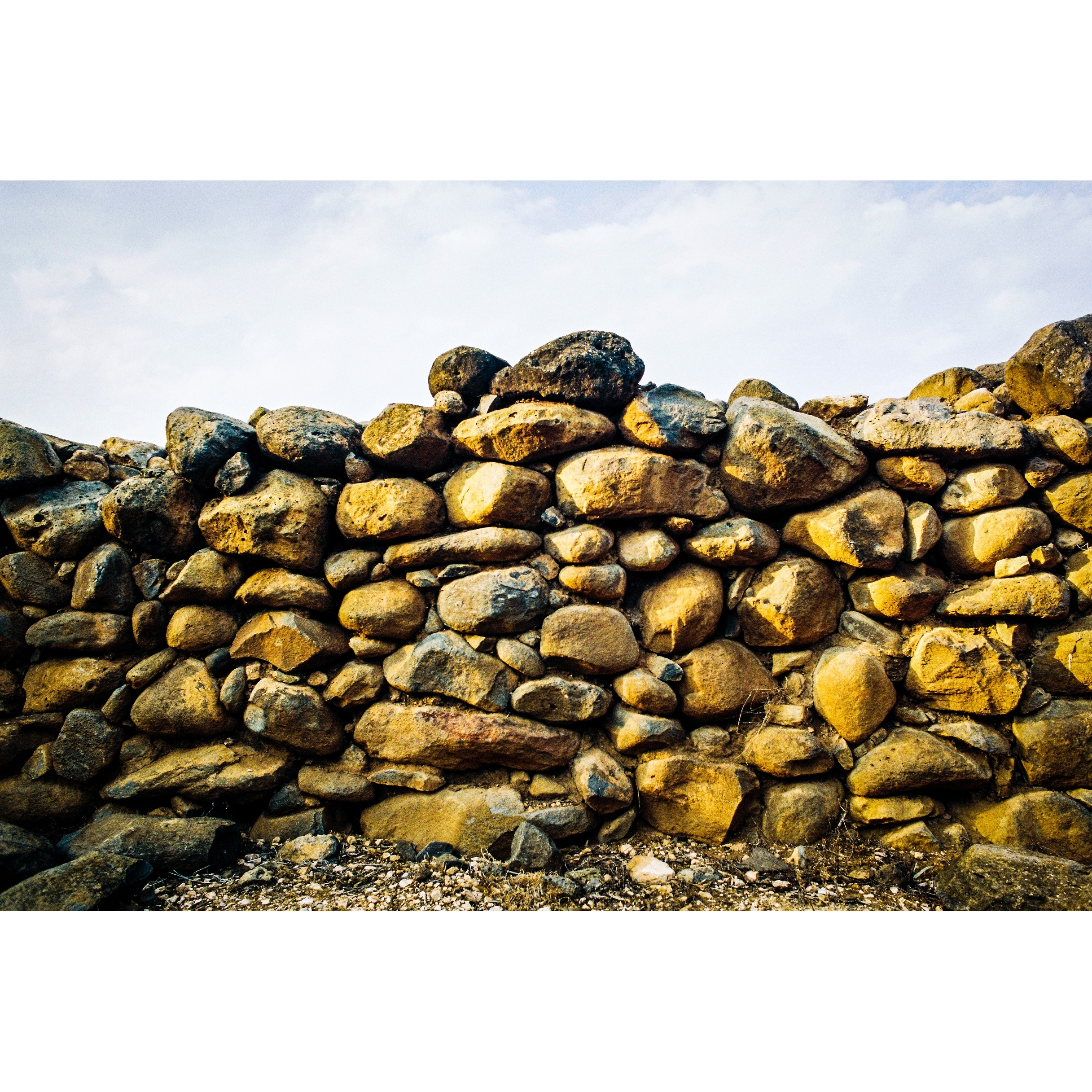 Shop Stacked Rocks Photograph Wall Art Canvas On Sale