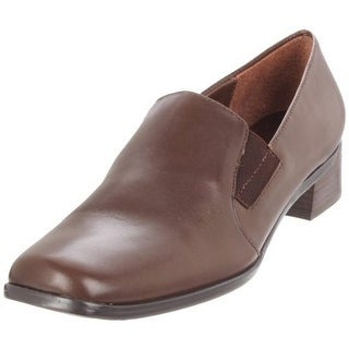 Trotters Womens Ash Leather Square Toe Loafers