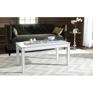 """Link to SAFAVIEH Crispis White Croc Coffee Table - 39"""" x 23.5"""" x 19"""" Similar Items in Living Room Furniture"""