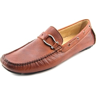 Bacco Bucci Palm Beach Men Moc Toe Leather Brown Loafer