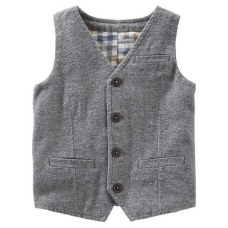 OshKosh B'gosh Little Boys' Suit Vest, Gray, 4-Toddler - gray