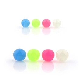10 Piece Pack Threaded Glow in the Dark Acrylic Balls - 16GA (4mm Ball)