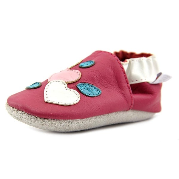 Skidders Genuine Infant Round Toe Synthetic Pink Walking Shoe