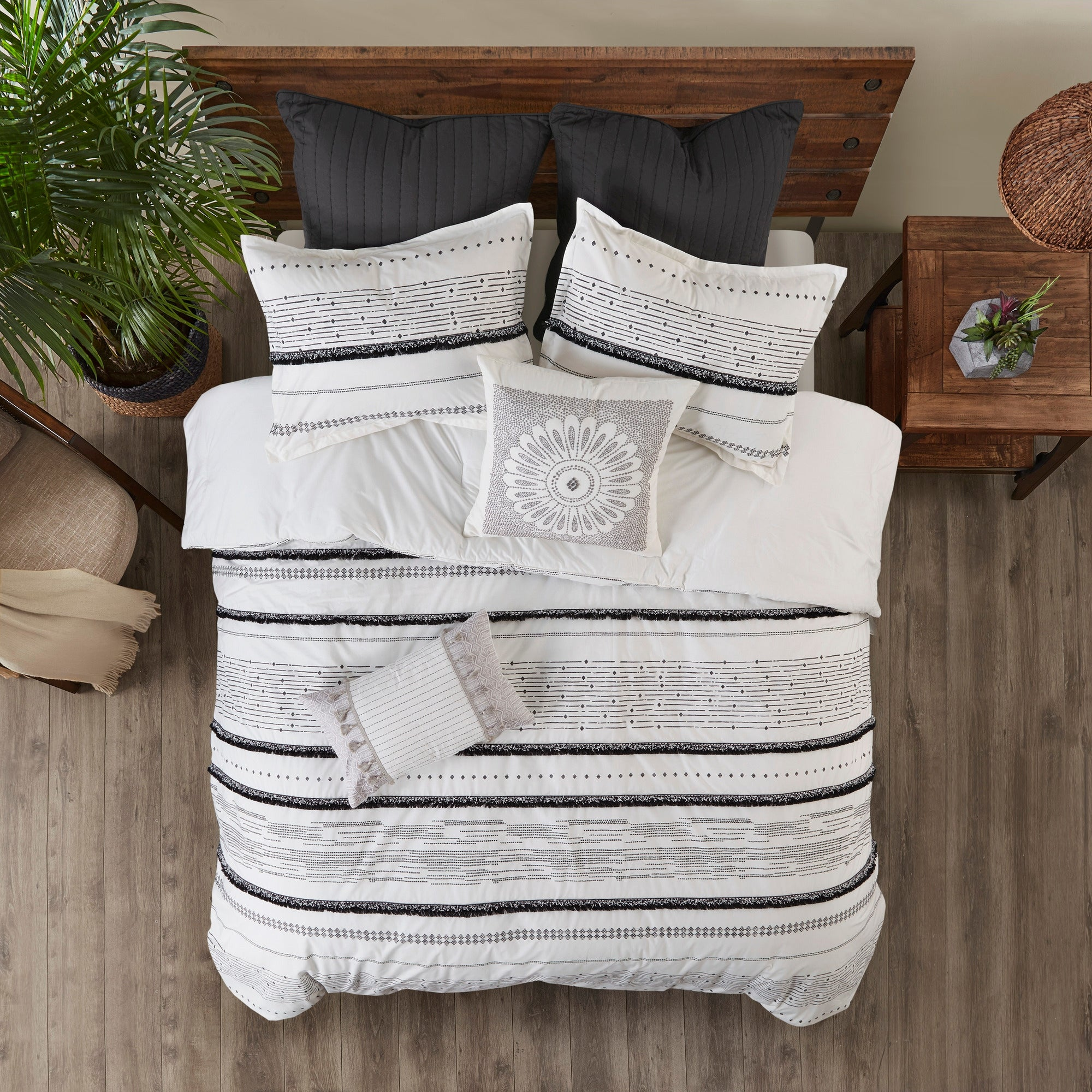 Navy INK+IVY II20-708 Cotton Jersey Knit Heathered Sheet Set Twin X-Large