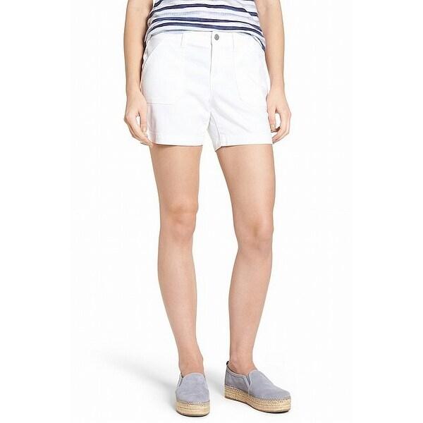 Caslon White Women's Size 0 Casual Utility Bermuda Walking Shorts