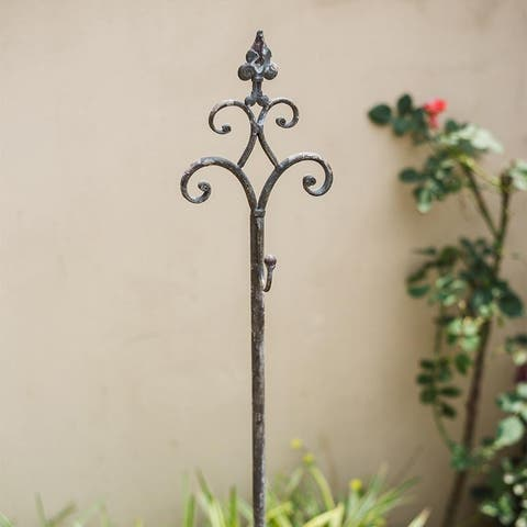 RusticReach Metal Hanging Plant Stand with Hook Adjustable Height