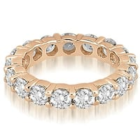 4.80 cttw. 14K Rose Gold Round Diamond Eternity Ring,HI,SI1-2