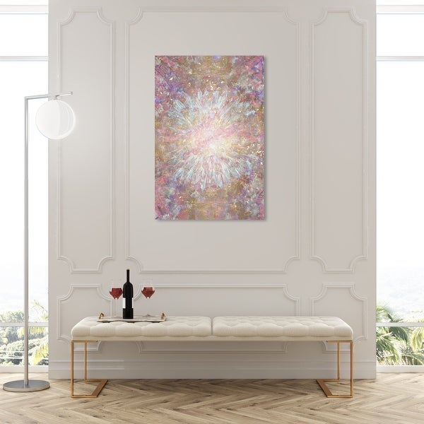 Oliver Gal 'Pretty Shine' Abstract Wall Art Canvas Print Paint - Gold, Blue. Opens flyout.