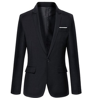 Link to Mens Slim Fit Casual One Button Blazer Jacket Similar Items in Sportcoats & Blazers