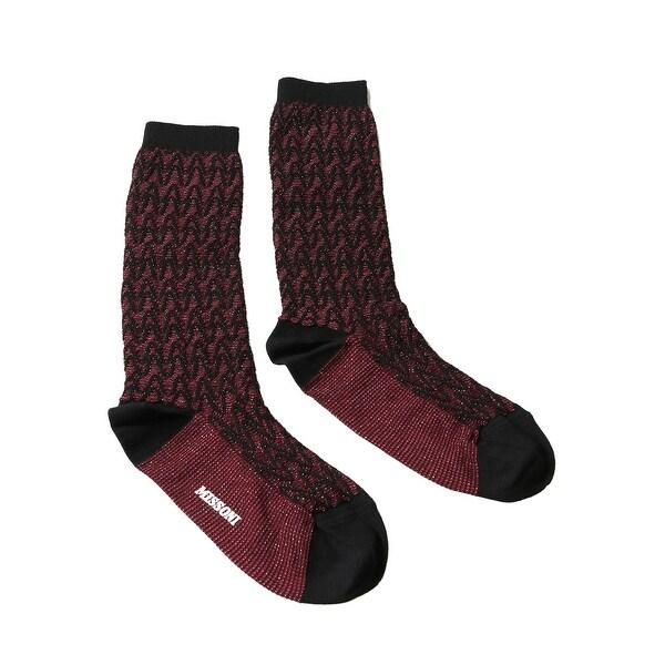 Missoni GM00CMD5227 0003 Red/Black Calf Length Socks - M