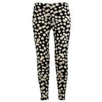 Girls Stretchy Leggings Trousers Black Daisy